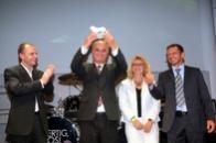 Herr Kleinhenz, Geschäftsführer der PopKomm, Herr Peter Heusinger, Steffi Groß und Peter Näder