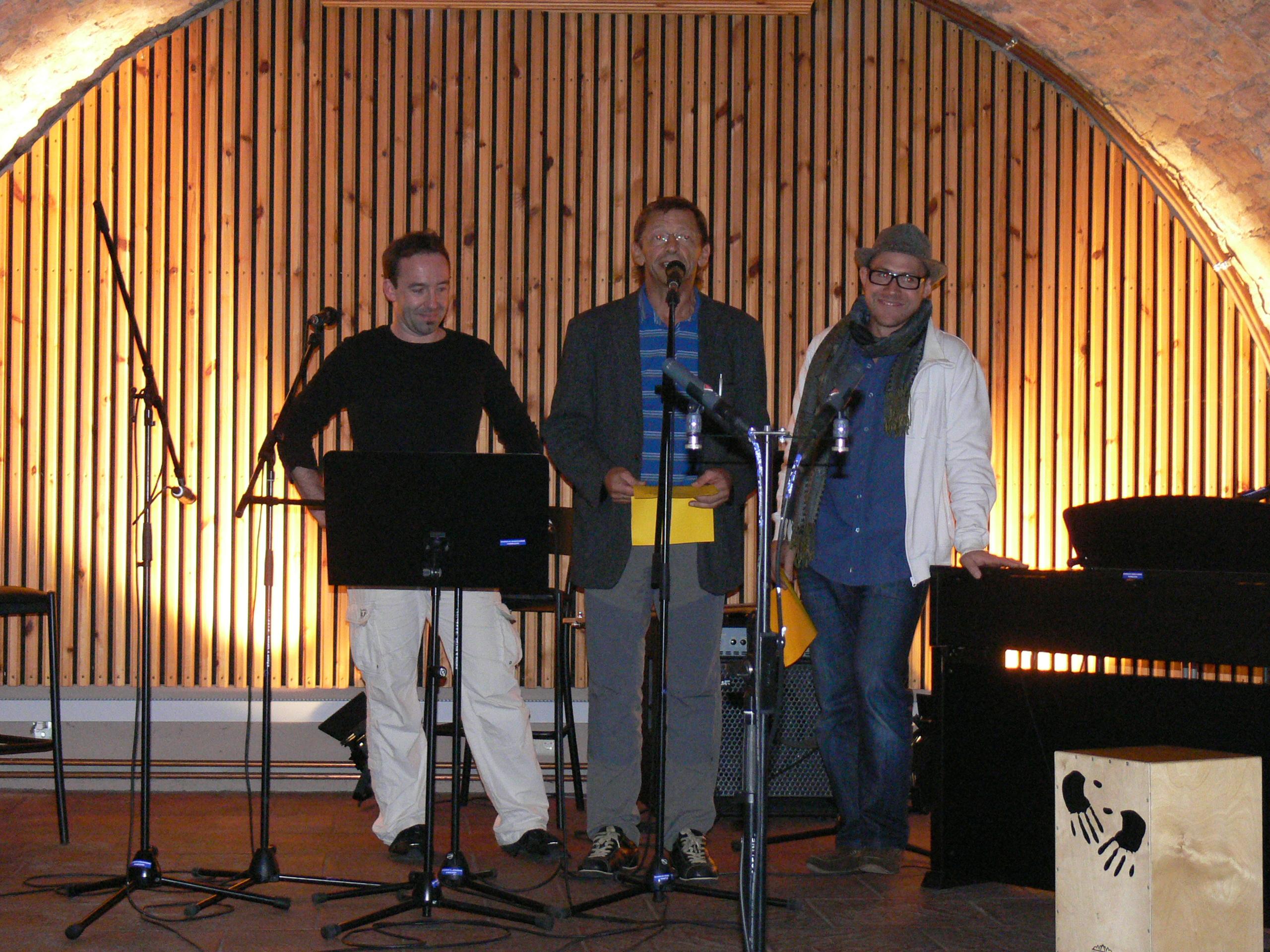 Begrüßung von Peter, Mark und Haiko