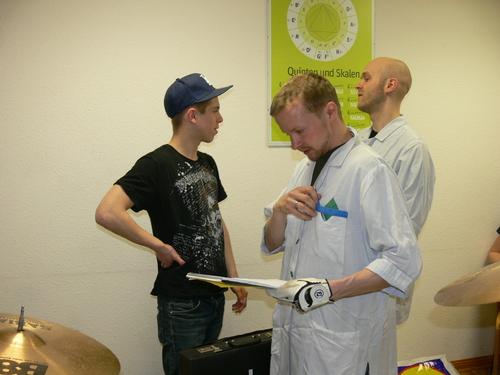Bild:Christian mit Prof. Dr. Schun und Dr. Emig
